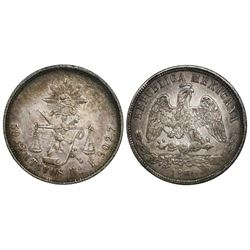 Hermosillo, Mexico, 50 centavos, 1876/6F.