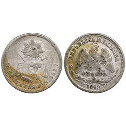 San Luis Potosi, Mexico, 25 centavos, 1869S.