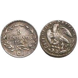 Chihuahua, Mexico, 5 centavos, 1869.