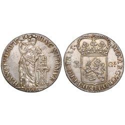 Utrecht, Netherlands, 3 gulden (60 stuivers), 1794.