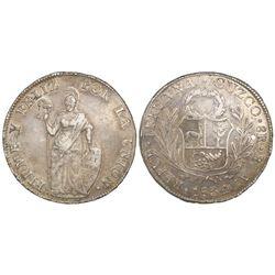 Cuzco, Peru, 8 reales, 1834BoAr.