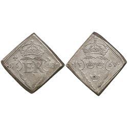Sweden (Stockholm mint), klippe 16 ore, Erik XIV, 1563.