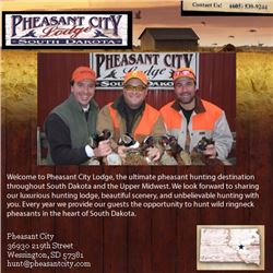 Pheasant hunt for two hunters