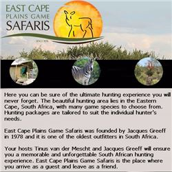 Safari for one hunter and one non-hunter