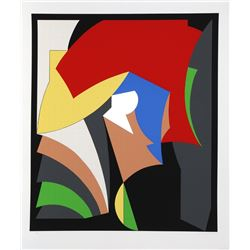 """Red ROBERT NATKIN Untitled 23.5/"""" x 29/"""" Poster Abstract Multicolor"""