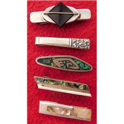 5 Sterling Tie Clips