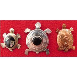 3 Turtle Pins