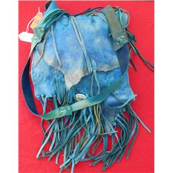 Southwest Blue Leather Bag