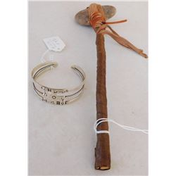 Fred Harvey Bracelet & Tomahawk