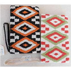 2 Native American-style Beaded Bags