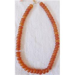 "16"" Strand of Amber Glass Beads"