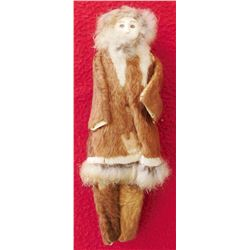 Eskimo Bone Doll w/Clothes