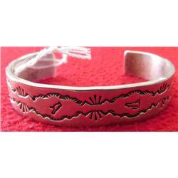 Sterling Silver & Navajo Bracelet