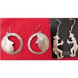 2 Pair Sterling Silver Earrings