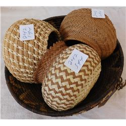 4 Tarahumara & Tribal Baskets