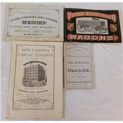 4 Antique Wagon Catalogs
