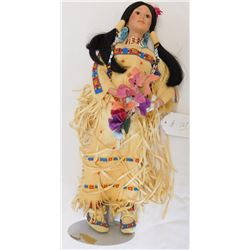 Sioux Plains Indian Doll on Stand