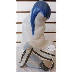 Lladro Native American Child Sculpture