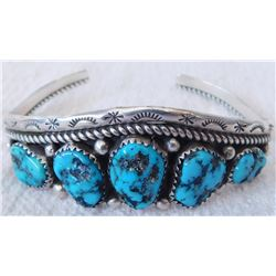 Sterling & Turquoise Women's Cuff