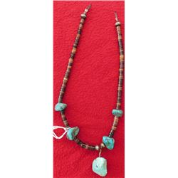 Heishi & Turquoise Nugget Necklace