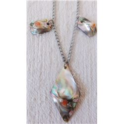 Silver & Abalone Necklace