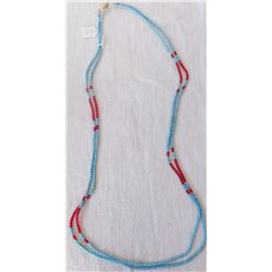 Double-Strand Faceted Bead Necklace