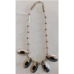 Sterling Silver & Onyx Necklace