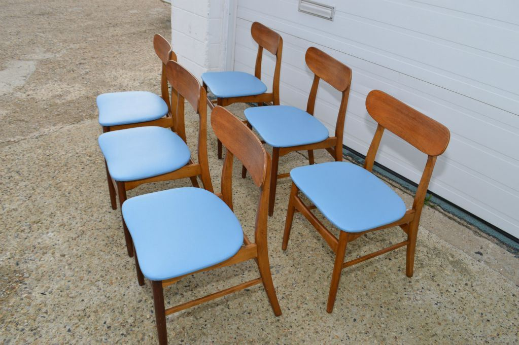 Strange Set Of Six Mid Century Modern Danish Teak Curved Back Dining Ncnpc Chair Design For Home Ncnpcorg