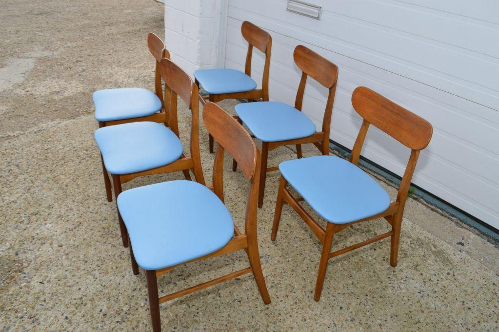 Super Set Of Six Mid Century Modern Danish Teak Curved Back Dining Creativecarmelina Interior Chair Design Creativecarmelinacom