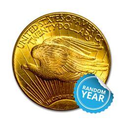 Common Date $20 Saint Gaudens AU