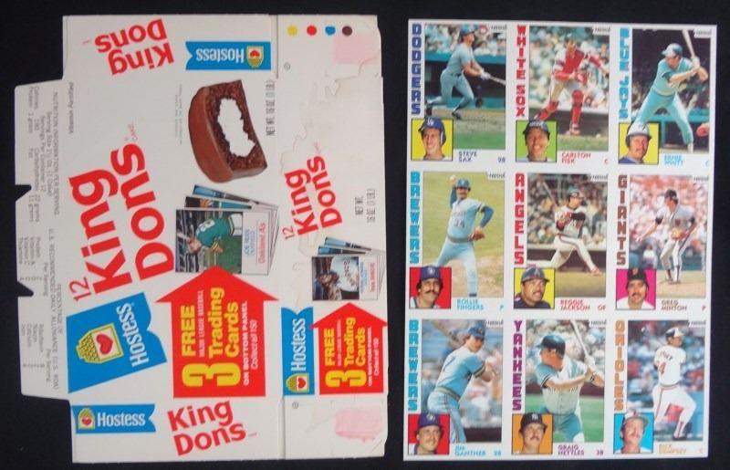 1975 Hostess King Dons Flatunused Boxes Baseball Cards Nolan Ryan Reggie Smit