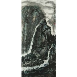 Watercolour on Paper Landscape Li Guohua 1923-