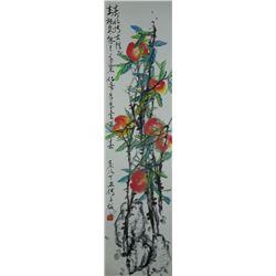 Watercolor on Paper Scroll Fu Zizhao b. 1928