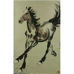 Watercolour on Paper Scroll Xu Beihong 1895-1953