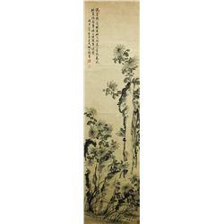 Watercolour on Paper Scroll Yao Gongshou 1423-1495