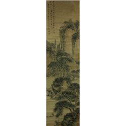 Watercolour on Paper Scroll Gao Qipei 1660-1734