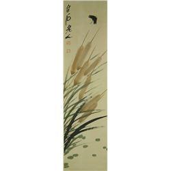 Watercolour on Paper Scroll Qi Baishi 1864-1957