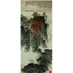Watercolour on Paper Scroll Qian Songyan 1897-1985