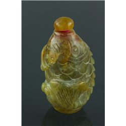 Chinese Hardstone Carved Snuff Bottle