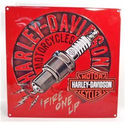 HARLEY DAVIDSON EMBOSSED METAL SIGN