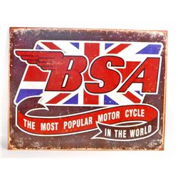 BSA MOTORCYCLE ADVERTISING METAL SIGN