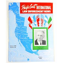 1950 VINTAGE PACIFIC COAST INTERNATIONAL LAW ENFORCEMENT NEWS