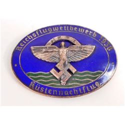 GERMAN NAZI NSFK ENAMELED GLIDER BADGE