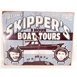 GILLIGANS ISLAND SKIPPERS BOAT TOURS METAL SIGN