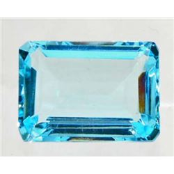 20 CT AQUAMARINE QUARTZ - OCTAGON CUT