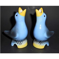 PAIR OF BLUE PIE VENT BIRDS