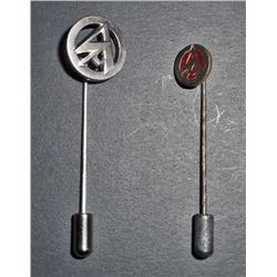 LOT OF 2 GERMAN NAZI SA STURM ABTEILUNG LAPEL STICK PINS