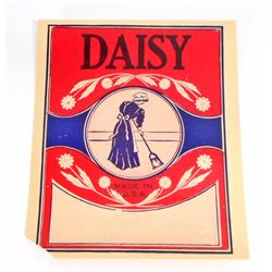 VINTAGE DAISY BROOM HANDLE ADVERTISING LABEL