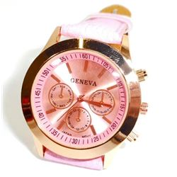 WOMANS ANALOG WATCH WITH PINK BAND