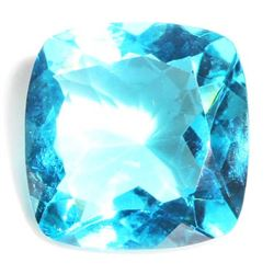 22.5 CT CUSHION CUT AQUA QUARTZ